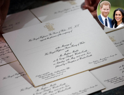 News Flash: Royal Wedding Invitation is Printed on Paper!